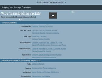 shipping-container-info.com screenshot