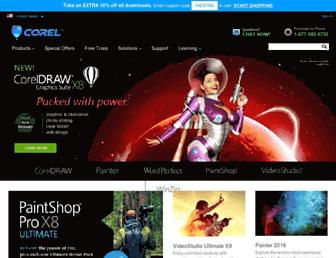 corel.com screenshot