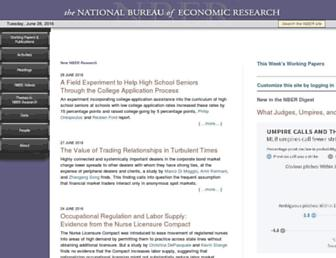 nber.org screenshot