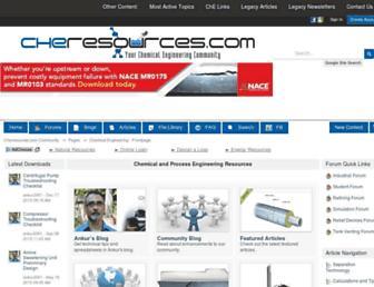 cheresources.com screenshot