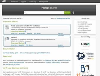 software.opensuse.org screenshot