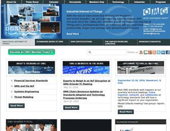 omg.org screenshot