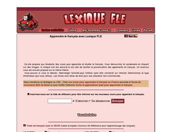 Main page screenshot of lexiquefle.free.fr