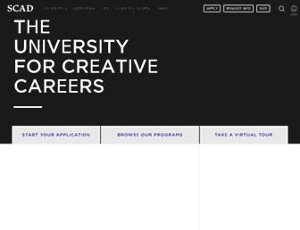 Main page screenshot of scad.edu