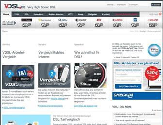 Main page screenshot of vdsl.de