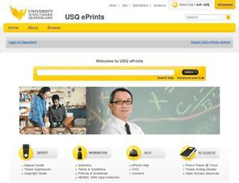 eprints.usq.edu.au screenshot
