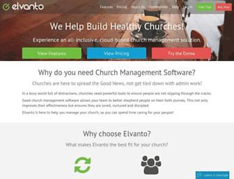 elvanto.com screenshot