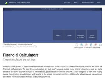 financial-calculators.com screenshot