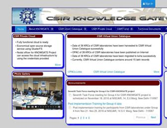knowgate.niscair.res.in screenshot