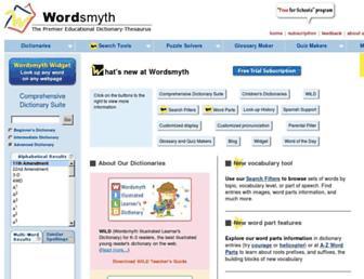 Thumbshot of Wordsmyth.net