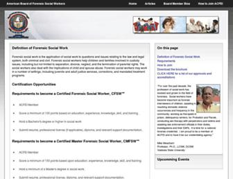 Main page screenshot of abfsw.us