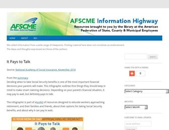 Main page screenshot of afscmeinfocenter.org