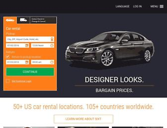 sixt.com screenshot