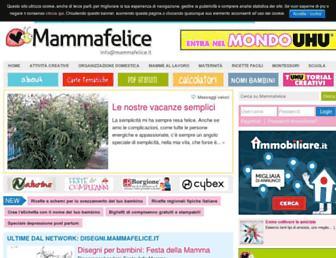 Main page screenshot of mammafelice.it