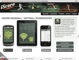 iscoresports.com screenshot