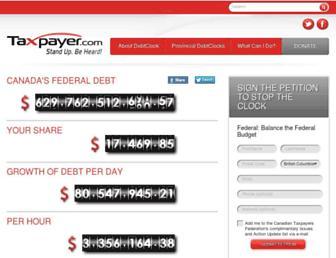 debtclock.ca screenshot
