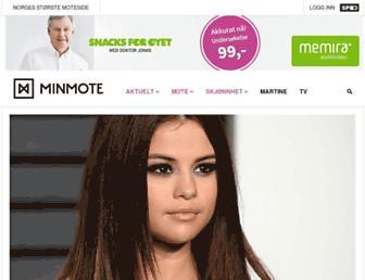 Main page screenshot of minmote.no