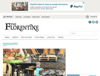 theflorentine.net screenshot