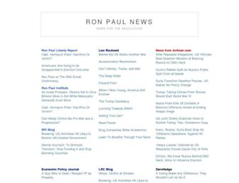 Main page screenshot of ronpaulnews.net