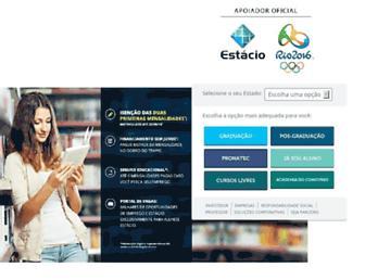 Main page screenshot of estacio.br
