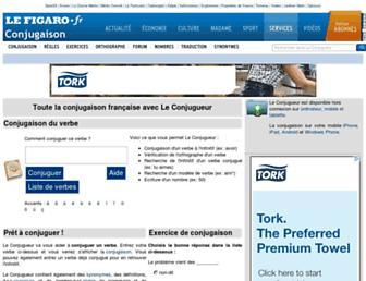 leconjugueur.lefigaro.fr screenshot