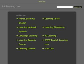 tutolearning.com screenshot