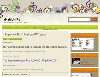 rhamphire.blogspot.com screenshot