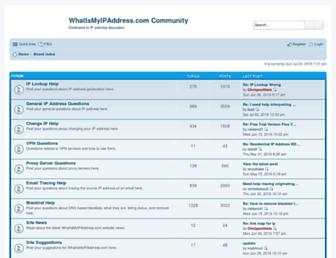 forums.whatismyipaddress.com screenshot