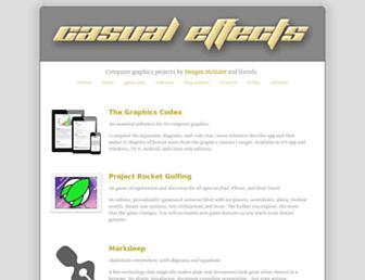 casual-effects.com screenshot