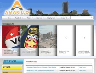 Main page screenshot of amarillo.gov