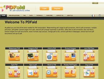 pdfaid.com screenshot
