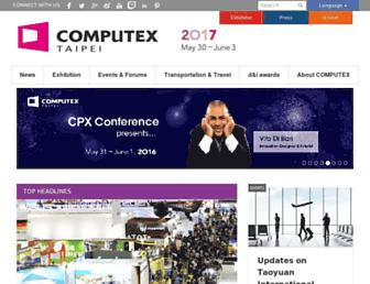 Main page screenshot of computextaipei.com.tw