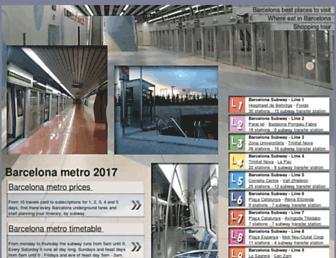 metrodebarcelone.com screenshot