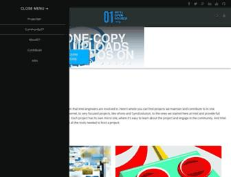 Thumbshot of 01.org