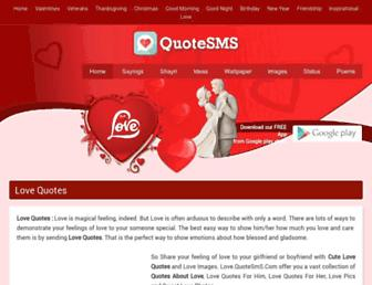 love.quotesms.com screenshot
