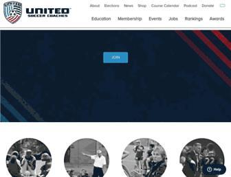 unitedsoccercoaches.org screenshot