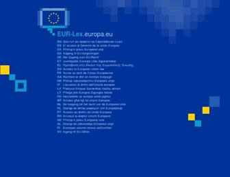 eur-lex.europa.eu screenshot
