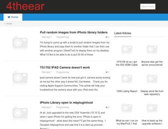 4theear.com screenshot