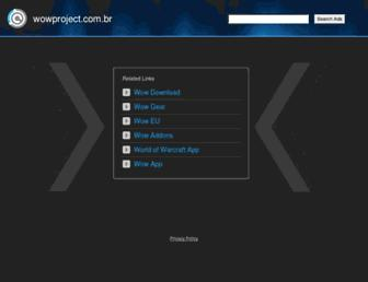 Main page screenshot of wowproject.com.br