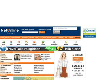 Main page screenshot of netonline.be
