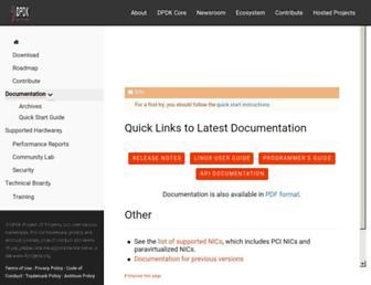 doc.dpdk.org screenshot