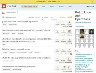 ask.openstack.org screenshot