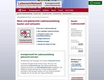 Main page screenshot of lebensmittelanzeiger.de