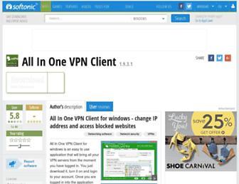 all-in-one-vpn-client.en.softonic.com screenshot