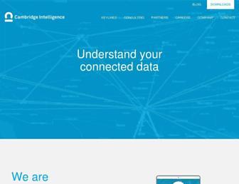 cambridge-intelligence.com screenshot