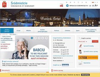 Main page screenshot of srodmiescie.warszawa.pl