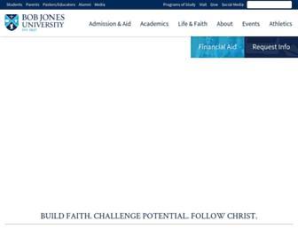 Main page screenshot of bju.edu