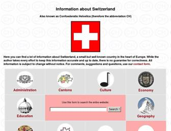 Main page screenshot of about.ch