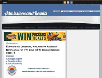 results-admissions.blogspot.com screenshot