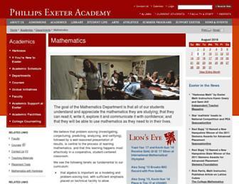 math.exeter.edu screenshot